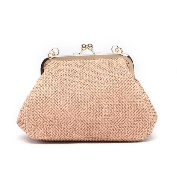 Straw Braided Woven Bag Mini Shell Beach Shoulder Sling Bag Fashionable Natural Evening Party Handbag Messenger Crossbody Bags