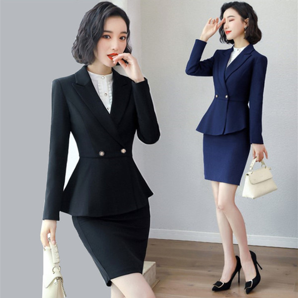 BS1962 Formal Women Pant Suits for Ladies Business Suits Work Wear Blazer Jacket and Pant/ Skirt 2pcs Sets Office Uniform Styles