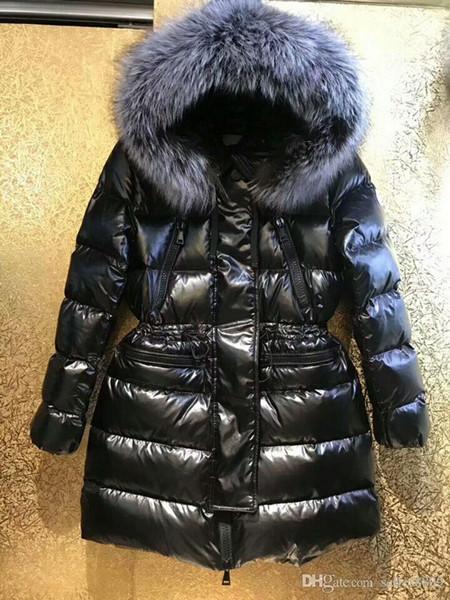 Gerçek tilki kürk kaput parka kadınlarla kış ünlü Kadınlar aşağı ceket anorak kadın mont parkas M850 ceketler