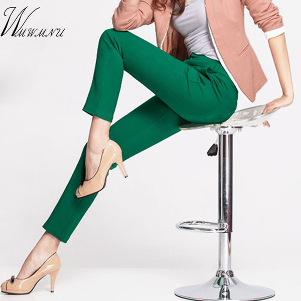 New Women's Casual Ol Office Pencil Trousers Girls's Cute 12 Colour Slim Stretch Pants Fashion Candy Jeans Pencil Trousers Q190509