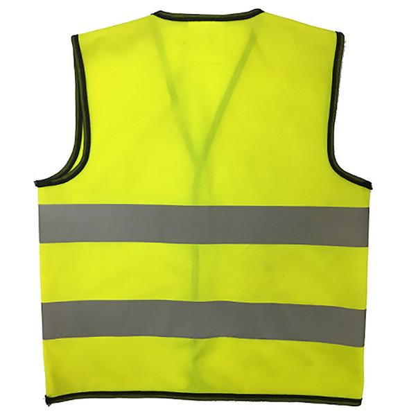 Yansıtıcı Yelek Güvenlik Giyim Dağcılık Uyarı Güvenlik Giyim Ceket Sarı