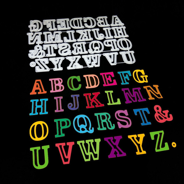 DIY Englisches Alphabet Metall Cutting Die Stanzschablone Scrapbooking Karte