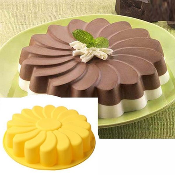 DIY 3D Fondant Silicone Cake Molds Sunflower Shaped Baking Bakeware Cookie Mould Pastry Cake Decorating Tool Kitchen Accessories