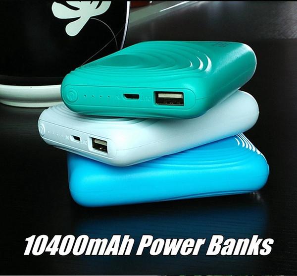Mini Portable T5 Cell Phone Power Banks 10400mAh Big Capacity USB Power Bank Backup Battery for Mobilephone Bluetooth Earphone Tablet