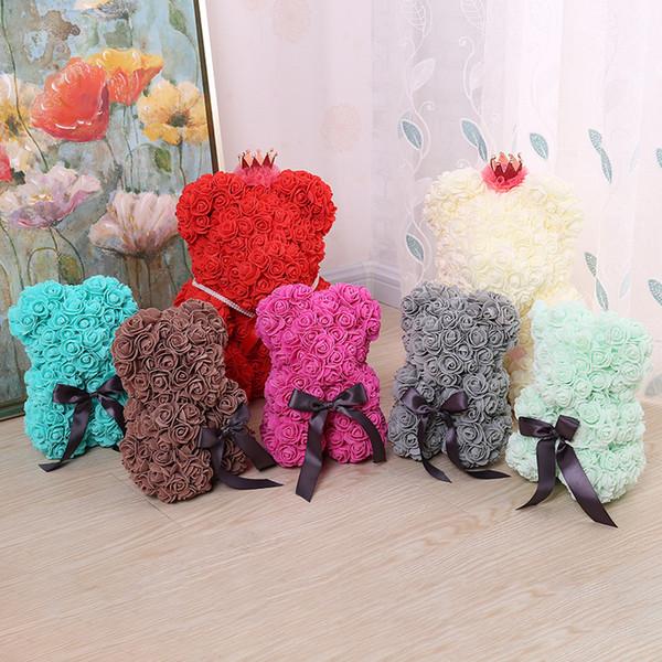 soft toys for children plush stuff animals anime rose teddy bear flower valentines day gift