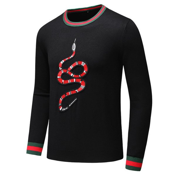 Mens Designer Pulls Pull Marque Pull Pull Serpent broderie Knitwear Designer Sweat De Luxe Hommes Vêtements Street Style B100306K