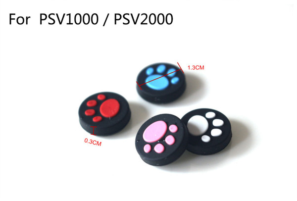best selling 4 Colors For PSV1000   PSV2000 Cat Claw Rubber Silicone Joystick Cap Thumb Stick Grip Grips Caps