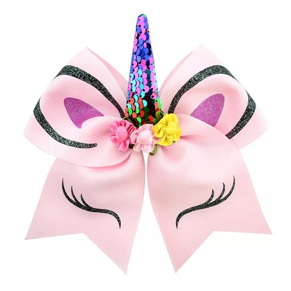 12 Colors 7 Inch jojo bows baby girl hair barrettes Sequins Eyes Mermaid Unicorn Rainbow Clippers Girls Hair Clips JOJO SIWA Hair Accessory