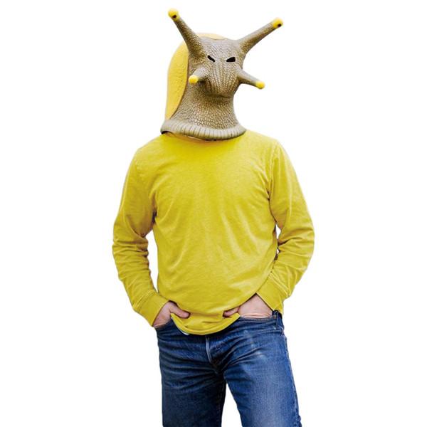 Cheap Boys Costume Accessories Animal Latex Masks Snail Banana Slug Full Face Mask Adult Halloween Cosplay Props