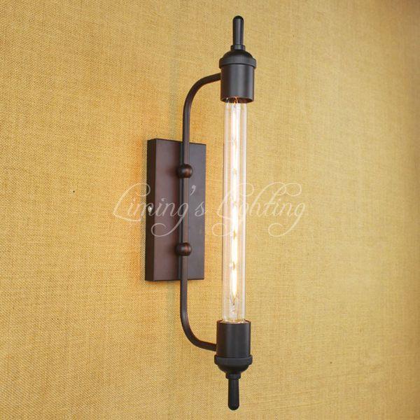 T30 E27 Steampunk Vintage Steam Pipe Retro Metal Wall Lamp Bathroom Vanity Lights Light Night Mirror Lighting Fixture Sconce Bar