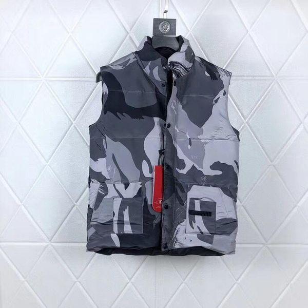 Vest Canadá Homens Inverno Quente Jacket mangas Vest Cotton Masculino Zipper Colete para o outono masculino grande ganso Homme Aqueça Vest para mulheres c7