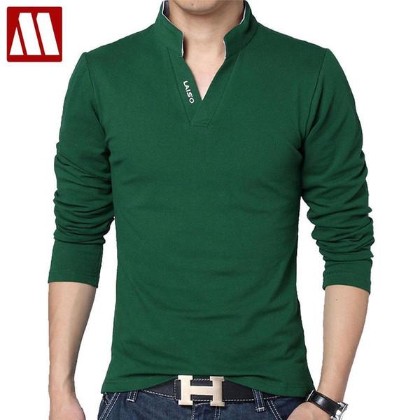 High Quality Brand Mens Slim Fit Solid Shirts Short Sleeve Stand Collar Shirt Camisa Polo Grande Xxxl 4xl 5xl C19041501