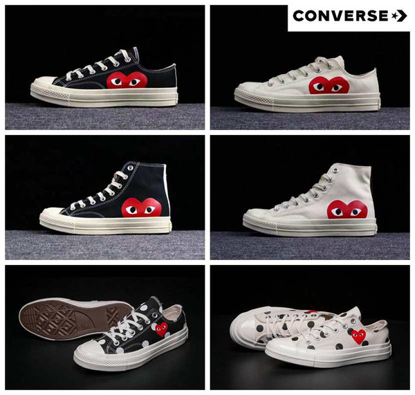 290aff5ac26b 2018 New 1970s Canvas Skate Shoes Originals Classic 1970 Canvas Shoes  Jointly Name CDG Play Big Eyes skateboard Casual Sneakers