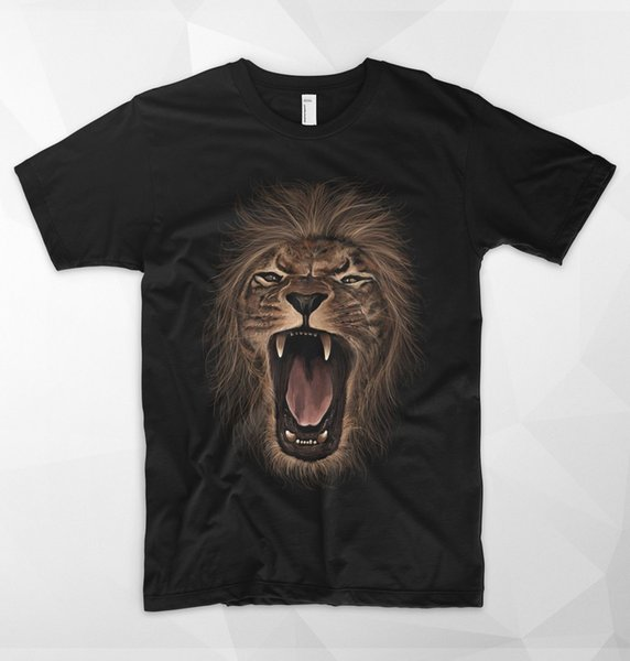 Lion Roar T Shirt King Of The Jungle Safari Wildlife Africa Simba Size Discout Hot New Tshirt Funny 100% Cotton T Shirt