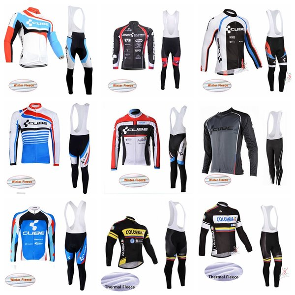 Colombia CUBE Cycling Winter Thermal Fleece jersey pantalon collant définit hiver sportswear outdoor respirant et coupe-vent pour hommes S195902