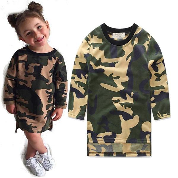Camuflaje del diseñador de la ropa del bebé para niños ropa del verano de los muchachos del mono infantil de las muchachas vestidos de la longitud pijamas Set ropa del muchacho Estilos de rodilla