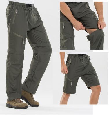 Съемные мужские летние тонкие секции дышащие спортивные быстросохнущие шорты сплошной цвет на открытом воздухе походные брюки