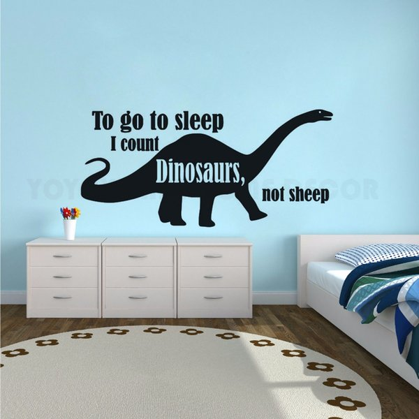Dinosaur Wall Decal Kids Boys Room Decor Removable Dinosaur Design Wall  Sticker Quote Wall Poster Dinosaur Lover Murals Wall Decor Stickers For ...