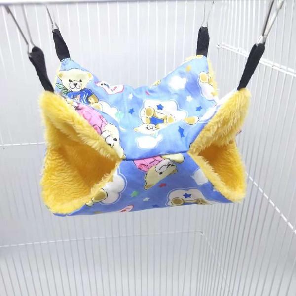 Sugar Glider Keep Warm Double-deck Interlayer Small Pet Suspension Type Squirrel Sleeping Bag Pets Articles Hamster Hammock