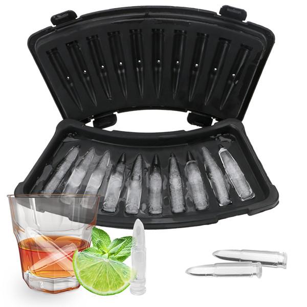 10 Rejillas de la categoría alimenticia PP hielo del molde del cubo de la bala del cubo de hielo bandeja de bricolaje para hacer helado de bebida Barra de Herramientas Accesorios de cocina herramienta de la barra LJJA3646-2