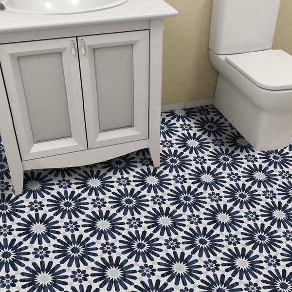 Großhandel 118x7,87 Zoll Pro Set Nordischen Stil Boden Aufkleber  Wasserdichte Fliesen Selbstklebende Badezimmer Küche Decor Mosaik Muster  PVC Boden ...