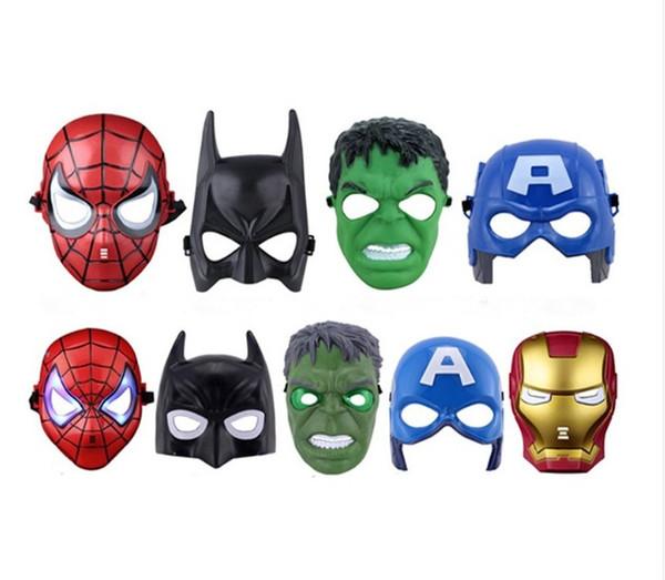 Super Hero Children Mask The Avengers Spiderman Batman Superman Hulk Ironman Mask Full Face Masks Film Theme for Halloween