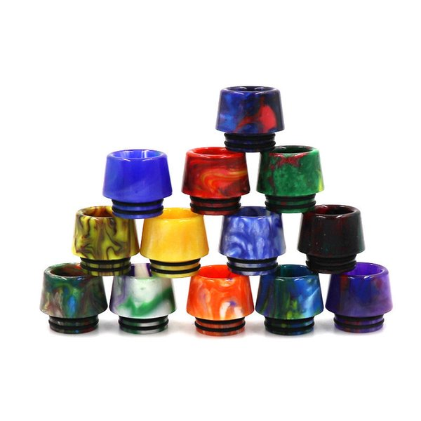 DHL 810 Drip Tip 810 ceramic dripper Tip for 810 Atomizers TFV8 TFV12 E Cigarette Airflow Mouthpiece Cheapest DHL Free