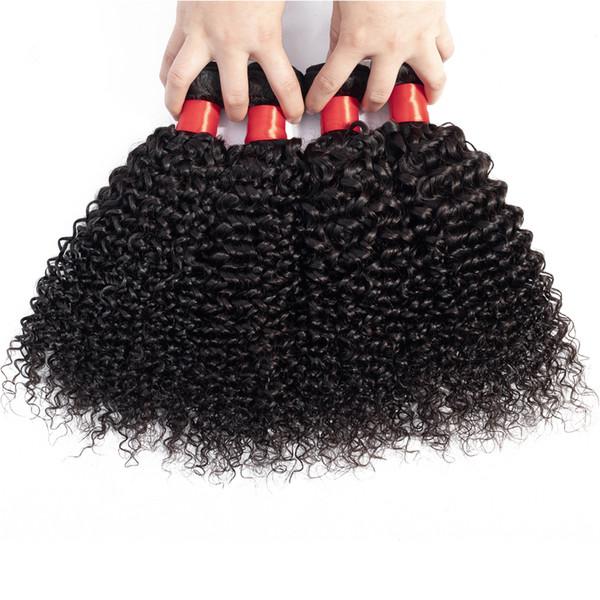Venda quente Indiano Kinky Curly Hair Extensions Bundles 3 Pçslote Brasileiro Peruano Malaio Remy Cabelo Virgem Cabelo Humano Barato Tecer Cabelo Encaracolado