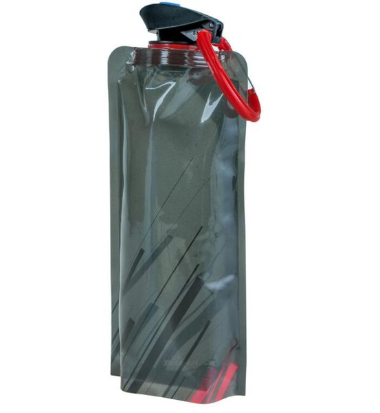 sacchetti d'acqua pieghevoli portatili esterni con portachiavi Multi-funzione bottiglia d'acqua sport pieghevole PE Wine bag escursioni viaggi bottiglie piegate