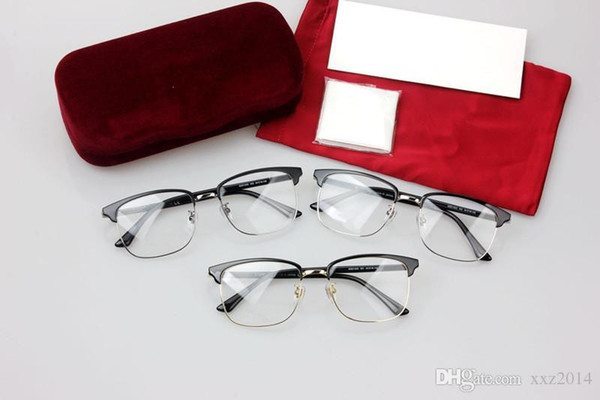 High-quality GG01300 glasses frame male 53-18-145 plank+metal big-frame for prescription glasses with full-set case wholesale freeshipping