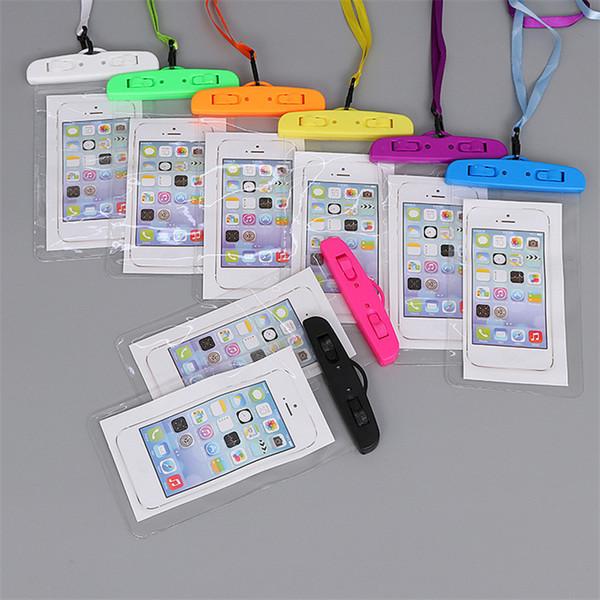 Сенсорный экран Водонепроницаемая сумка из ПВХ Защитный чехол для мобильного телефона с компасом Сумки для дайвинга Плавание Спорт Для iphone S7 Samsung