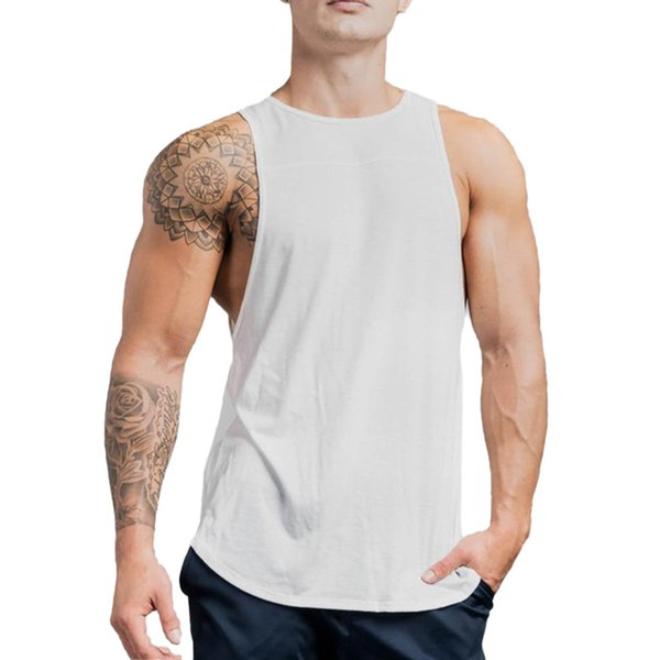 Men's Vest Muscle Sleeveless Tank Top T-Shirt Bodybuilding Sport Fitness Vest bodybuilding musculation mens workout clothing