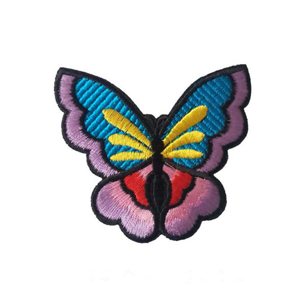 Embroidered cloth patch 7.4cm * 6.5cm butterfly appliques Back gum Ironing sewing patch T-shirt skirt clothing accessories DL_CPIA006