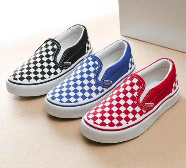Yeni marka çocuk kanvas ayakkabılar moda ayakkabılar erkek ve kız spor kanvas ayakkabılar Çocuk Boyutu 25-36 Chaussures Enfant Siyah beyaz Kırmızı Mavi