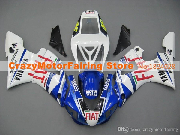 3Gifts New Hot sales bike Fairings Kits For YAMAHA YZF-R1 1998 1999 r1 98 99 YZF1000 Cool blue red FIAT