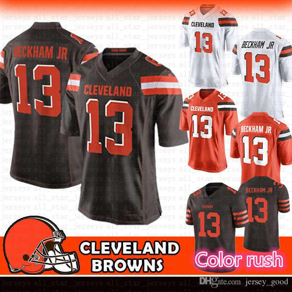uk availability 95538 19f38 2019 13 Odell Beckham Jr Browns Jersey 6 Baker Mayfield 80 Jarvis Landry 95  Myles Garrett Cleveland Nick Chubb Ward Thomas 27 Kareem Hunt From ...