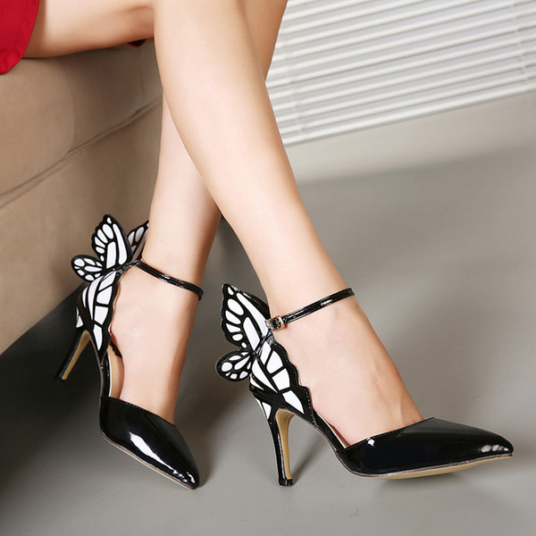 Goddess2019 Sharp Cavity Spelling Color Wing High With Princess Women's Shoes