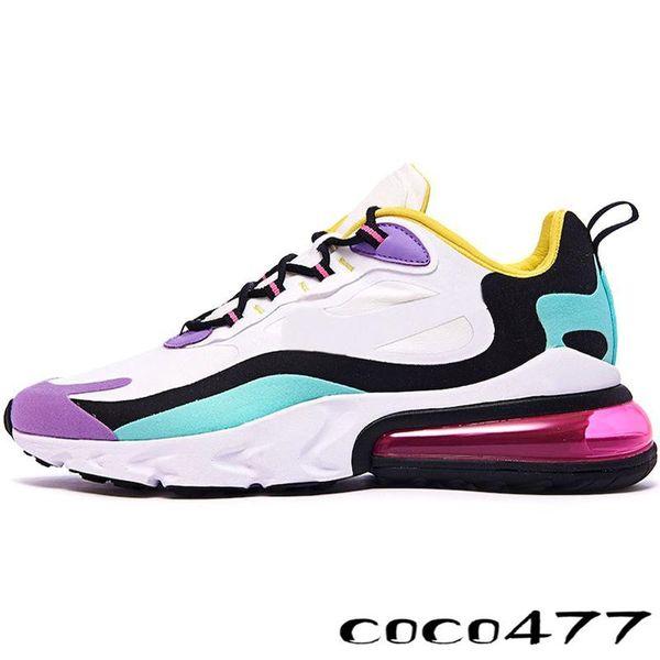 New 27C réagir bauhaus04 hyper rose armors violet vif et noir hommes noirs chaussures de course chaussures de sport de sport formateurs de créateurs