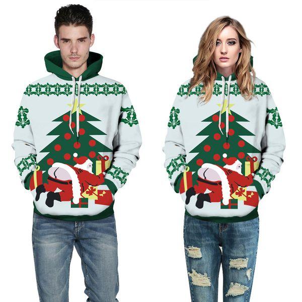 1b0e4a39 Mens 3D Christmas Printed Patterned Jumper Fashion Autumn Winter Unisex  Hoodies Long Sleeve Pocket Sweatshirt Tops Plus Size