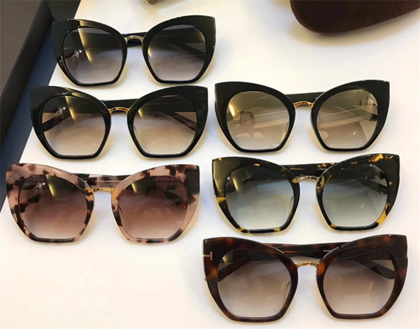 Luxury-New designer sunglasses charming cat eye frame popular style for women top quality uv400 protection eyewear with original box 553
