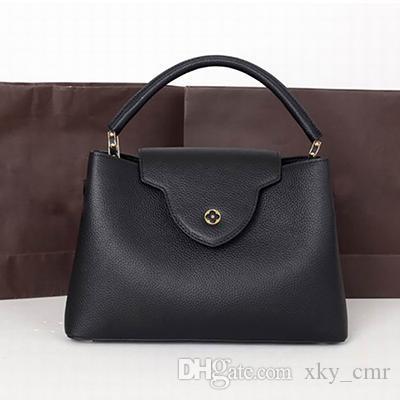 Женские кожаные сумки Женская сумка с верхней ручкой из натуральной кожи Модная женская сумка Женские сумки Tote Hand Bolsas