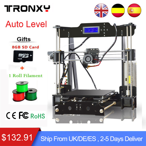 TRONXY 3D Printer X3 DIY High Accuracy Self Assembly LCD Reprap Kit 1 filament