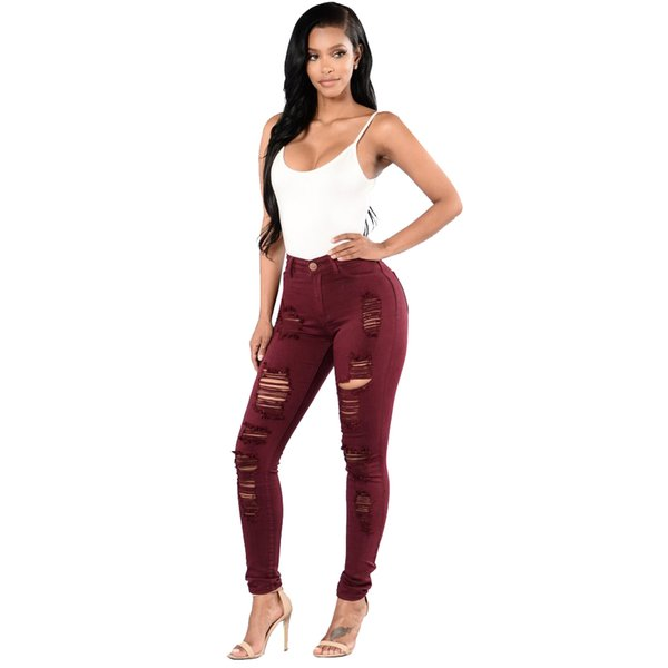 2019 Women jeans High Strength Water washed skinny jeans Ladies fashion New Style Leisure Bottom Jeans Wholesale 153#