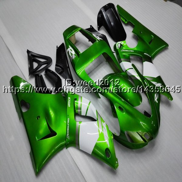 Custom-color+Screws green motorcycle article for Yamaha YZF-R1 98-99 YZF R1 1998-1999 ABS Plastic Fairings