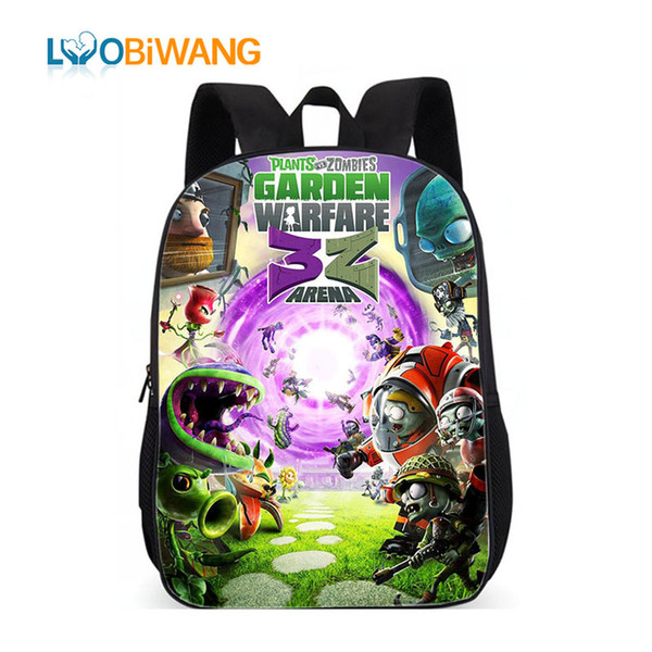 LUOBIWANG Plants Vs. Zombies Backpack Boys Girls School Bags Famous Games Backpack for Teenagers Kids Daily Bags Gift Backpacks
