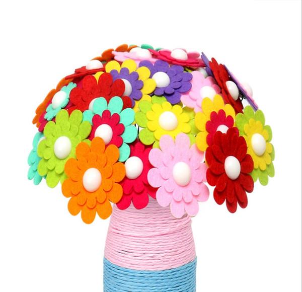 Handgemachte diy Knopfblumenstraußmaterialkinder der Mutter Feriengeschenkkinder kreative pädagogische Spielwaren