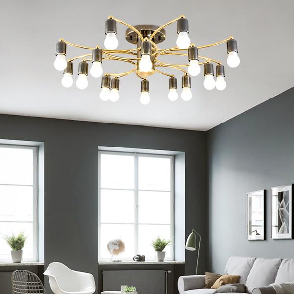 86 Design Chambre Acheter Led Lustre Salon Simple E27 De171 Luxe Créatif Suspension Or Nordique Pendentif Lumière 2019 Plafonnier Noir Éclairage E2DHW9I