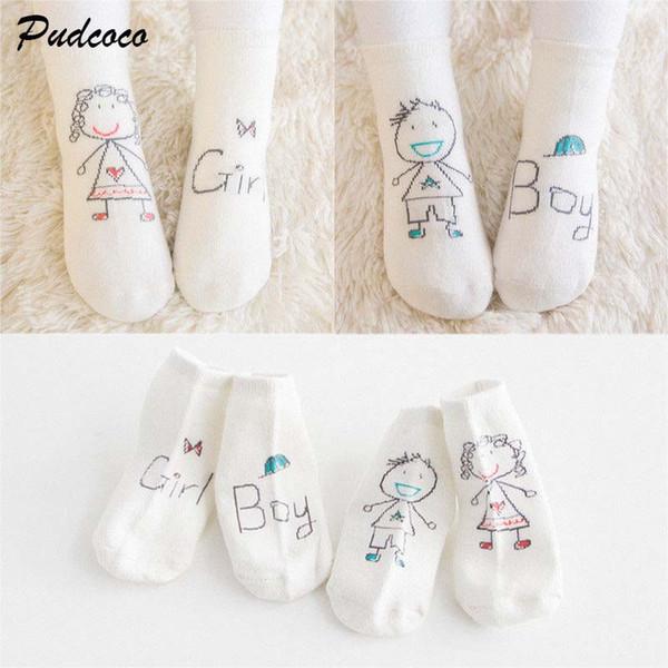 2019 Brand New Toddlers Kids Boys Girls Cartoon Drawing Soft Cotton Warm Socks Cute Cartoon Print Casual Ankle Socks 0-4T