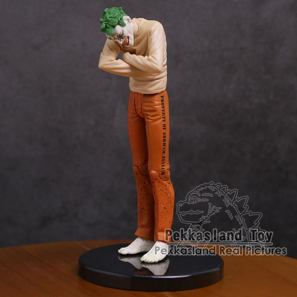 Batman Arkham Asylum Joker Hasta PVC Action Figure Koleksiyon Model Oyuncak 17 cm