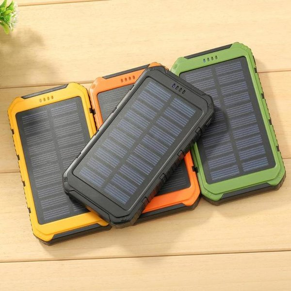 Dual USB Power Bank 20000mAh Solar Powerbank Extreme Mobile Phone Pack With LED External Battery Pack For iPhone Xiaomi Samsung